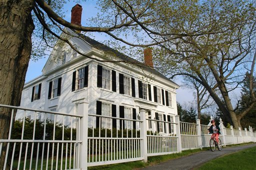 This May 17, 2005, file photo, shows the Harriet Beecher Stowe House in Brunswick, Maine. A professor of American literature at Clemson University in Clemson, S.C., Susanna Ashton, says her research shows Stowe harbored a fugitive slave from South Carolina here just before she started writing her novel