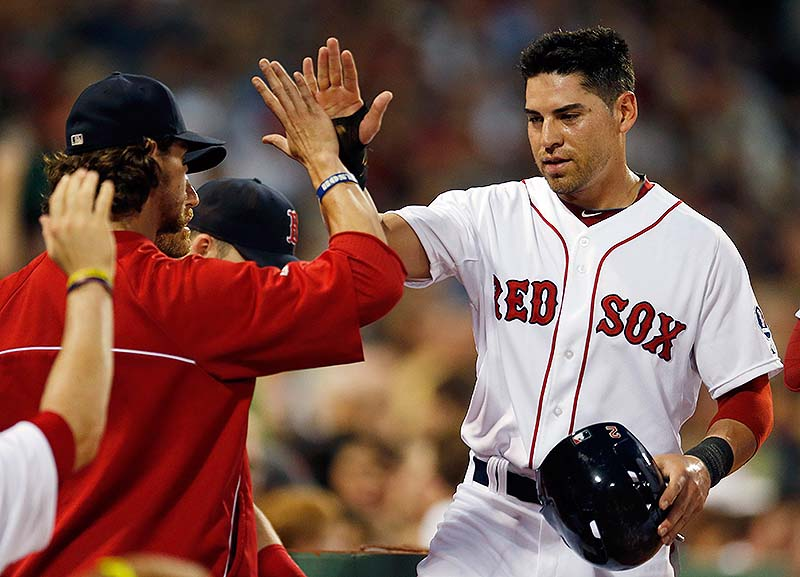 Jacoby Ellsbury of the Red Sox is out indefinitely with an injury to his right foot.