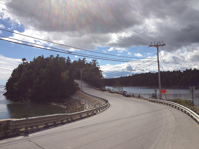 Doug Warren's photo of the scenic drive to Orr's Island includes the utility wires.