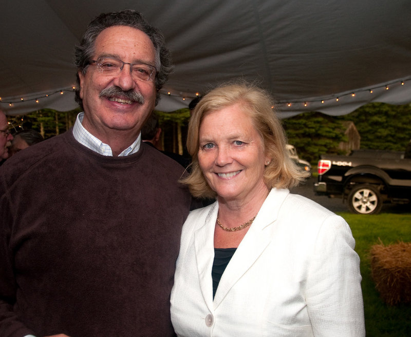 In this 2011 file photo, Donald Sussman and U.S. Rep. Chellie Pingree. Sussman and Pingree were two of six people aboard a water taxi that collided with a 20-foot recreational boat in Portland Harbor on Saturday night, Sept. 7, 2013 as they returned from a wedding.