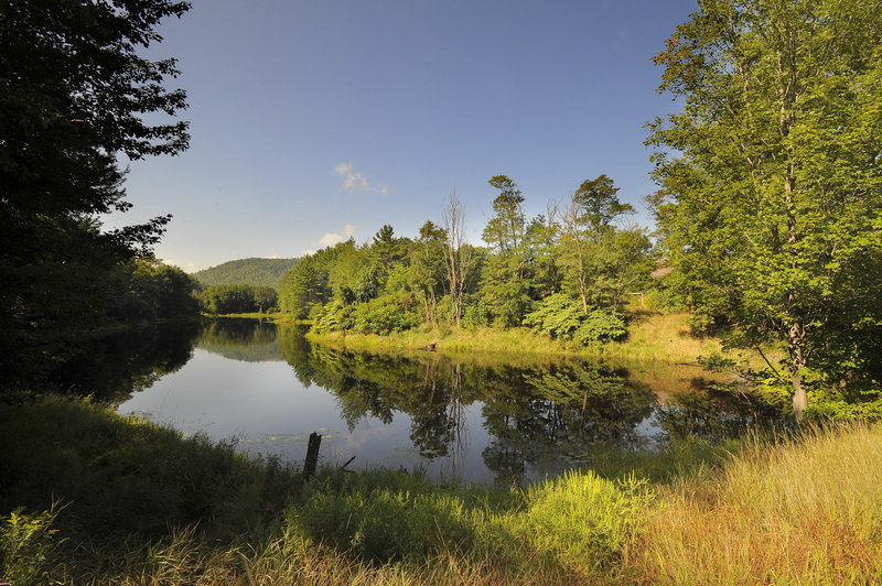 Wards Pond off Route 113 in Fryeburg is part of an aquifer where Poland Spring water trucks fill up and travel through Fryeburg.