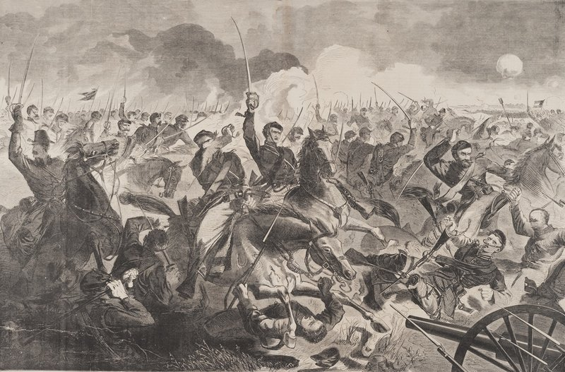 "The Portland Museum of Art on Saturday opens an exhibition of Winslow Homer's Civil War-era wood engravings drawn from its permanent collection, including ""The War for the Union 1862 – A Cavalry Charge. The show features several illustrations that Homer produced for Harper's Weekly. Also opening Saturday at the museum is an exhibition of paintings and drawings by New York-based Iraqi artist Ahmed Alsoudani."