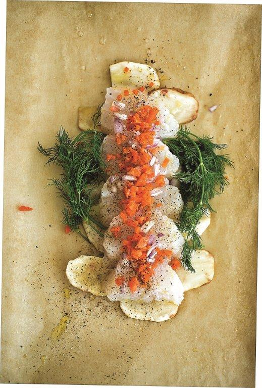 COD LOIN BAKED IN PARCHMENT PAPER