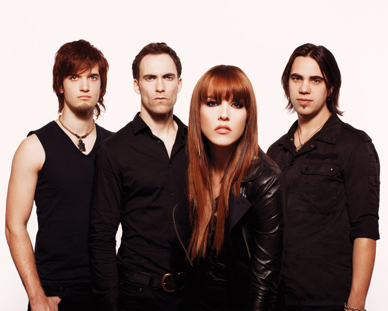 Halestorm is, from left, Arejay Hale, Josh Smith, Lzzy Hale and Joe Hottinger.