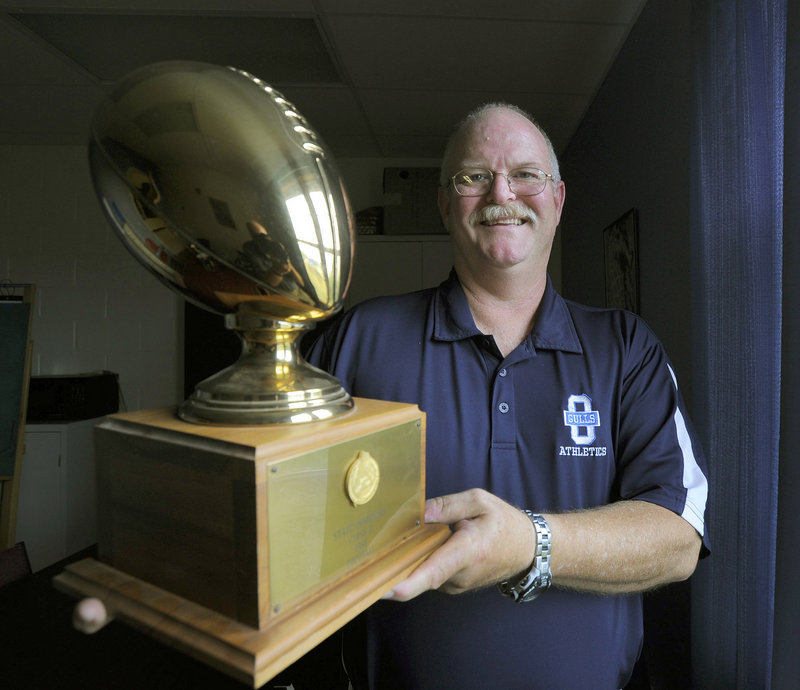 Now he's the athletic director, but in 1986 Jack Trull was the football coach who directed Old Orchard Beach High to the Class D state title in the division's final season before this year.