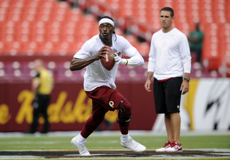 Robert Griffin III didn't play for the Redskins during the preseason while recovering from ACL surgery, but he expects to be on the field for the season opener.