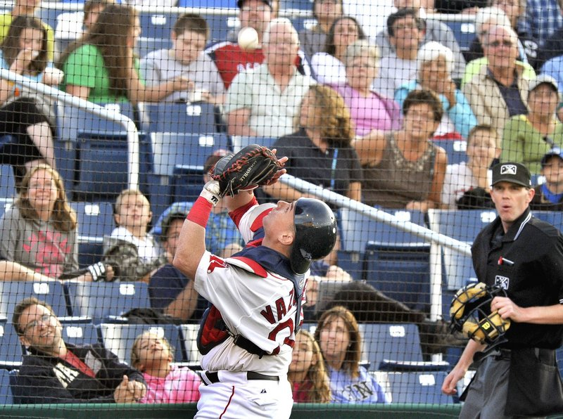 Christian Vazquez wasn't around for his Sea Dogs MVP award – he's been promoted to Pawtucket.