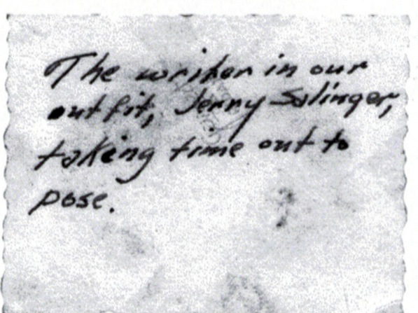 This note written on the back of the photo appears in a new book about the reclusive author.