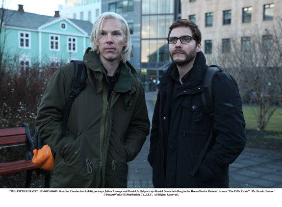 "Benedict Cumberbatch and Daniel Bruhl in ""The Fifth Estate"""
