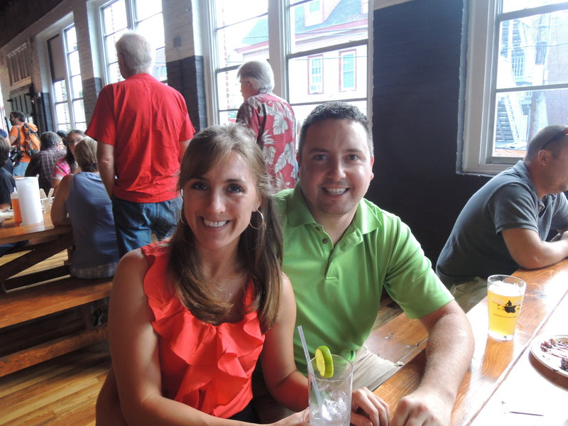 Leah Parker and Pat Talbot, of Portland, raved about the hush puppies and the pulled pork.