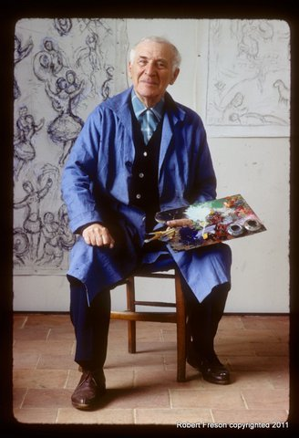 A Robert Freson photo: Artist Marc Chagall.