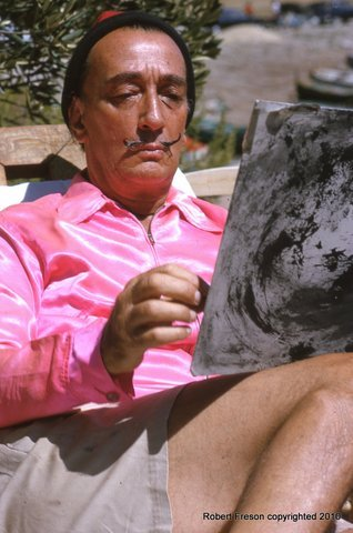 A Robert Freson photo: Artist Salvador Dali.