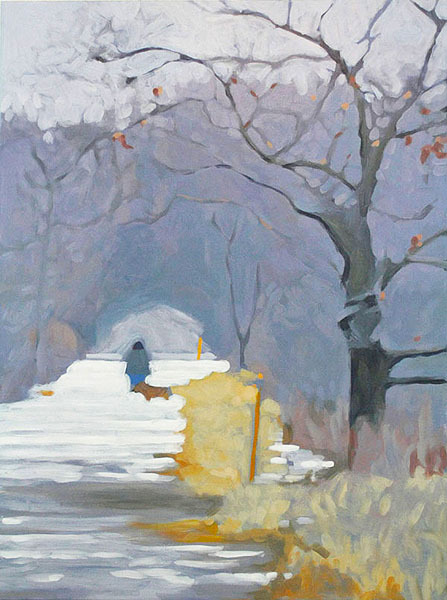 """Winter Walk"" by Liz Hoag from ""New Works"" at Elizabeth Moss Galleries in Falmouth."