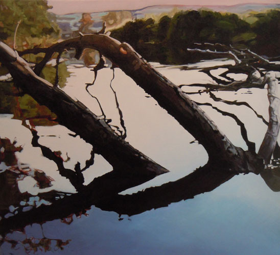 """""""Floating II"""" by Carol Sloane from their exhibition """"Water & Wood"""" at Elizabeth Moss Galleries in Falmouth. A reception will be held from 5 to 7 p.m. Thursday."""