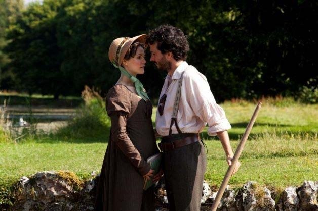 "Keri Russell and Bret McKenzie in a scene from ""Austenland."""