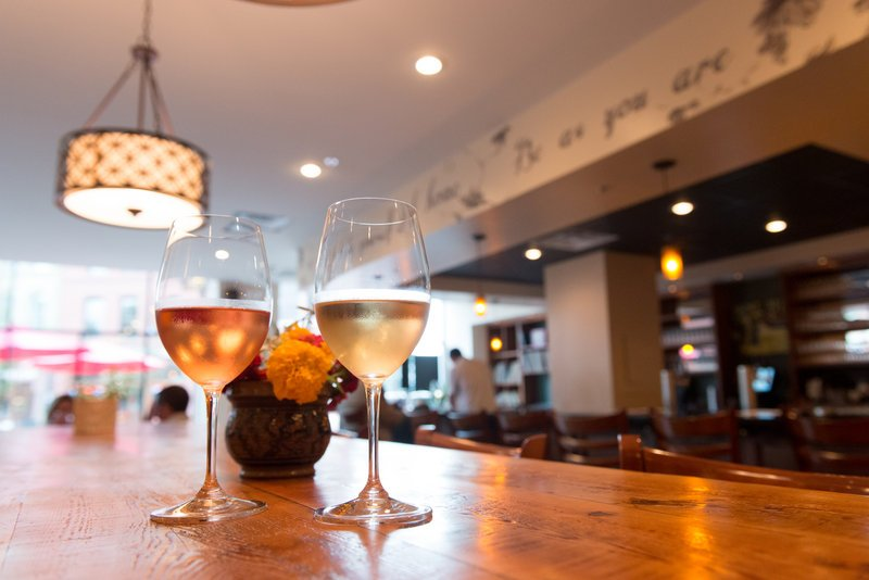 MJ's Wine Bar in One City Center could be a bland space were it not for the cozy touches being added by its owner, Mark Ohlson.