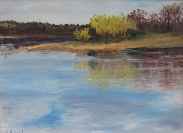 """""""Spring, Thomas Point,"""" by Felicity Sidwell. Sidwell credits the light outside her West Point studio that makes her want to paint. It's """"always different every morning. Everything looks different every day."""