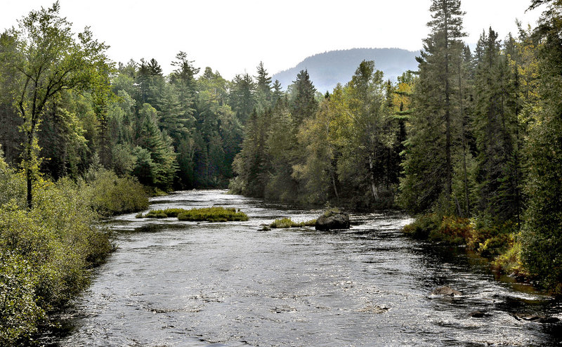 The Seboeis River runs through land owned by Elliotsville Plantation Inc. in northern Maine. Many residents have opposed a plan to create a national park, fearing they will lose the right to pursue traditional activities on the land if it comes under federal control.