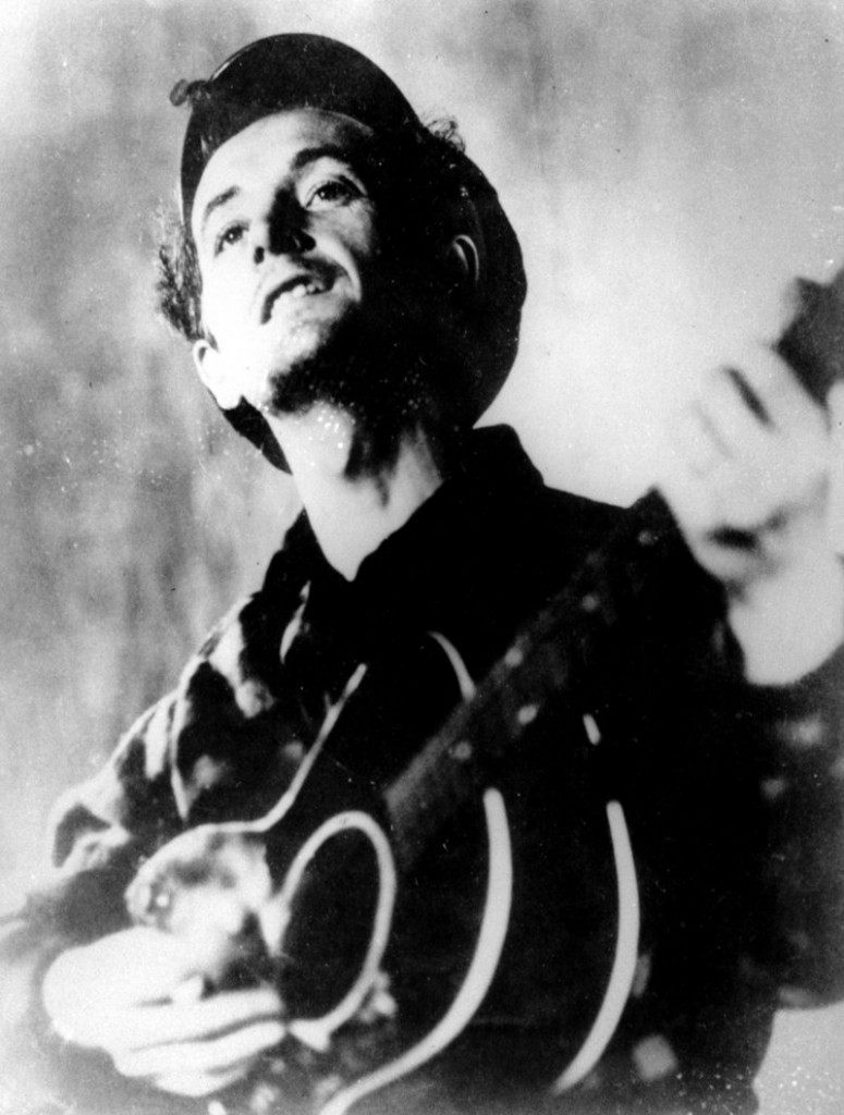 Woody Guthrie, shown in an undated photo, will be celebrated for his artistry in a display in Okemah, Okla.