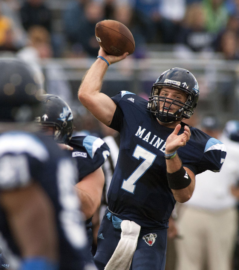 He threw for four touchdowns and 263 yards, but UMaine quarterback Marcus Wasilewski and his teammates got a bit of a scare when Bryant University jumped out to an early lead. The Black Bears rallied, however, and improved to 3-0 with a 35-22 win.
