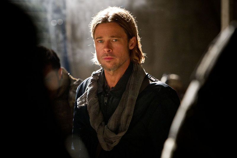 "Brad Pitt in a scene from ""World War Z."""