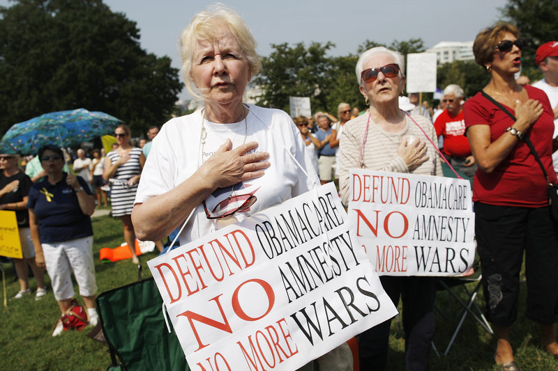 Tea party rallies, like this one earlier this month in Washington, and their supporters pressure Republican congressmen to adhere to a strict set of principles. With their loyalty to forces outside the party, Republican leaders have few options to entice rogue lawmakers.