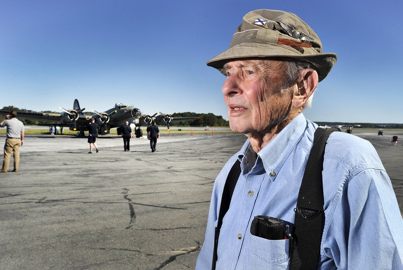 Richard Sterling, 90, of Scarborough piloted a P-47 fighter for the Army after being rejected by the Navy for being too short.