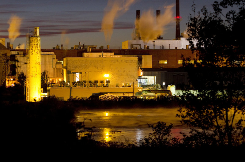 The Great Northern Paper plant in East Millinocket continues to operate, but at a greatly diminished capacity compared to the Maine paper industry's heyday. Some of the job losses have contributed to a rise in disability claims in the area.