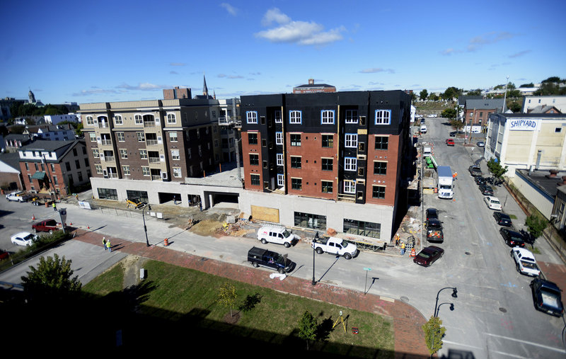 Work continues on the Bay House development in Portland on Monday, Sept. 23, 2013.