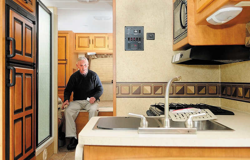 The motor home has a three-burner stove and a queen bed but Chris Harnish says the most important attribute didn't come standard: The vehicle is hauling his 17 fishing rods.