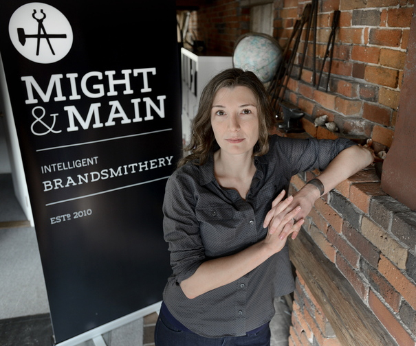 Arielle Walrath runs Might & Main, a business branding and design firm that recently won a marketing award.