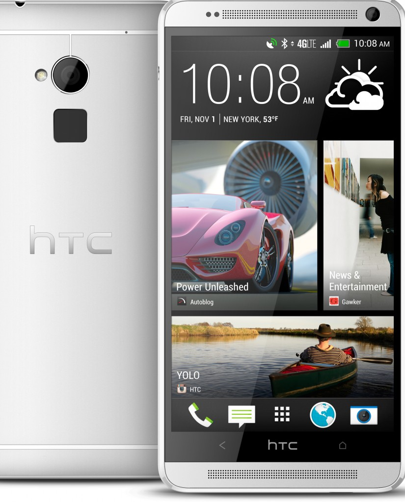 The new HTC One Max has a screen that measures 5.9 inches diagonally. That compares with the 4.7 inches on the standard version.