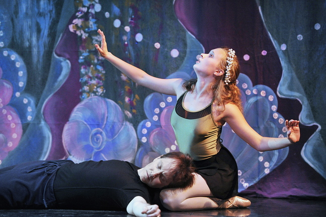 "Veronica Druchniak has the title role and Glenn Davis is the Prince in Maine State Ballet's ""The Little Mermaid."""