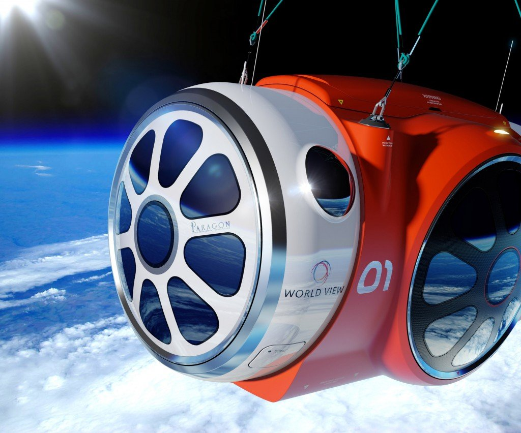 An artist's rendering provided by World View Enterprises shows the design for a capsule carrying people willing to pay $75,000 to spend a couple of hours looking down at Earth. The Associated Press