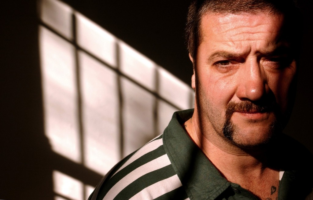 """Mark """"Chopper"""" Read is shown in Sydney, Australia, in June 2002. The notorious criminal detailed his career in the book, """"How to Shoot Friends and Influence People."""""""