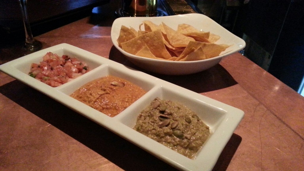 Tortilla chips with a choice of three of Zapoteca's house salsas are $4 from 4 to 6 p.m. and 9 to close.