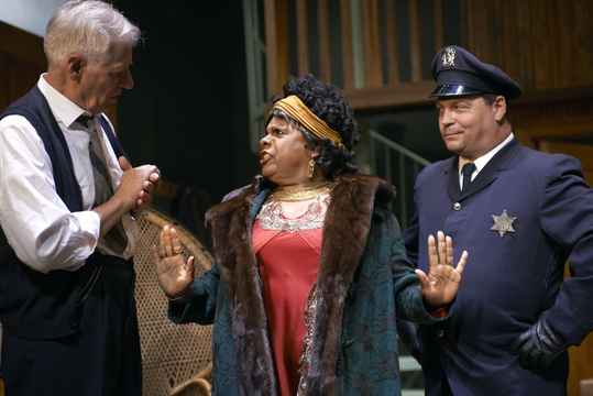 "Tom Bloom, Tina Fabrique and Corey Gagne in the Portland Stage Company production of ""Ma Rainey's Black Bottom."""