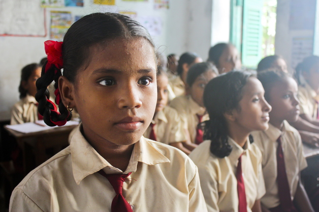 "Ruksana of Kolkata, India, is one of the girls whose stories of courage are told in the film ""Girl Rising,"" showing for free at the State Theatre in Portland on Friday."