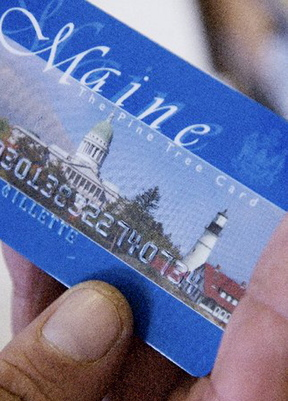 A writer bemoans congressional handling of legislation related to food stamps, which Mainers obtain with a state-issued debit card.
