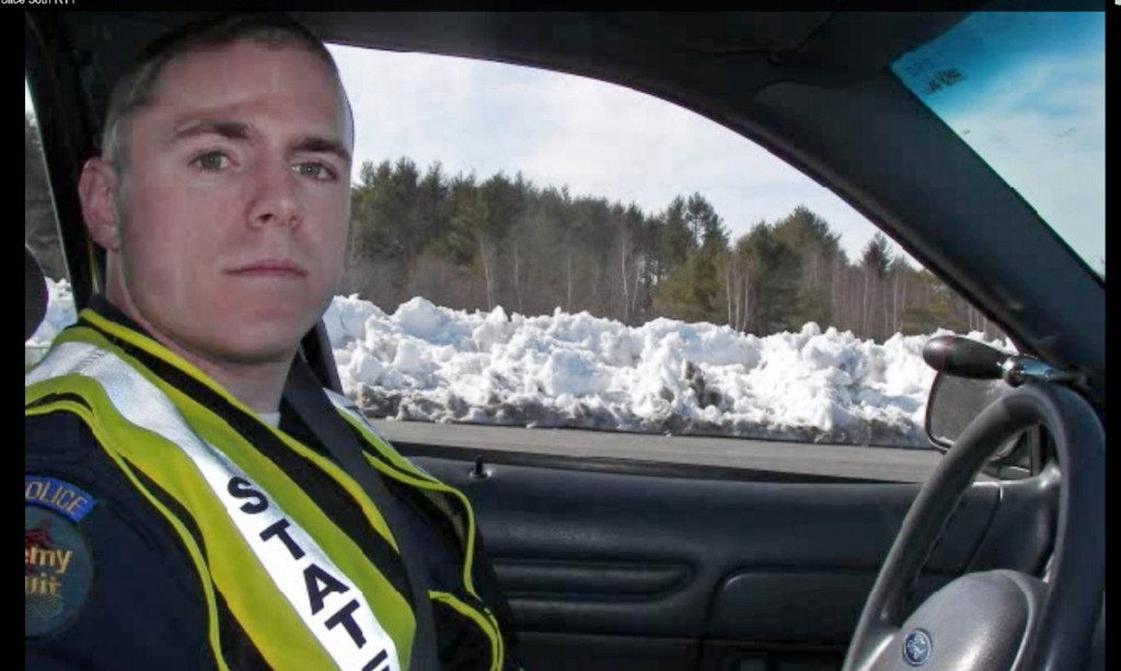 A frame grab from a video of the Maine State Police S58th Recruit Training Troop (RTT) posted on YouTube shows then-recruit Jason Wing during an exercise. The state attorney general's office has found Trooper Wing legally justified in shooting James Reynolds, 18, along a West Paris road in June.