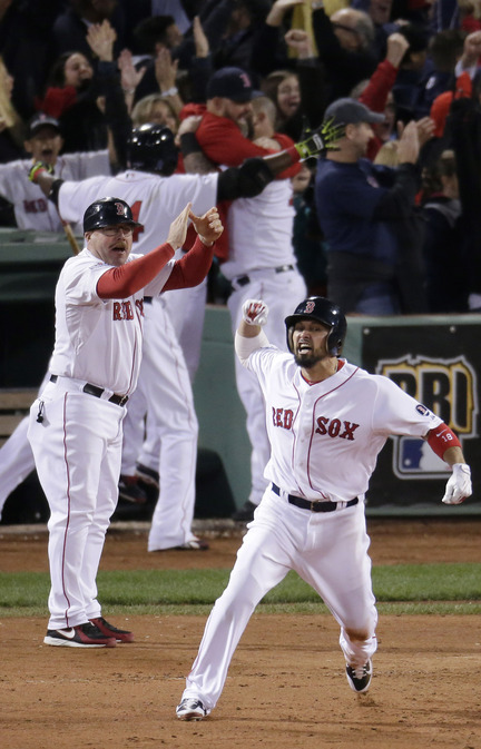 Shane Victorino knew almost immediately. So did Arnie Beyeler, the first-base coach. So did his teammates. So did all of New England. Victorino hit a grand slam in the seventh and a World Series berth soon followed.