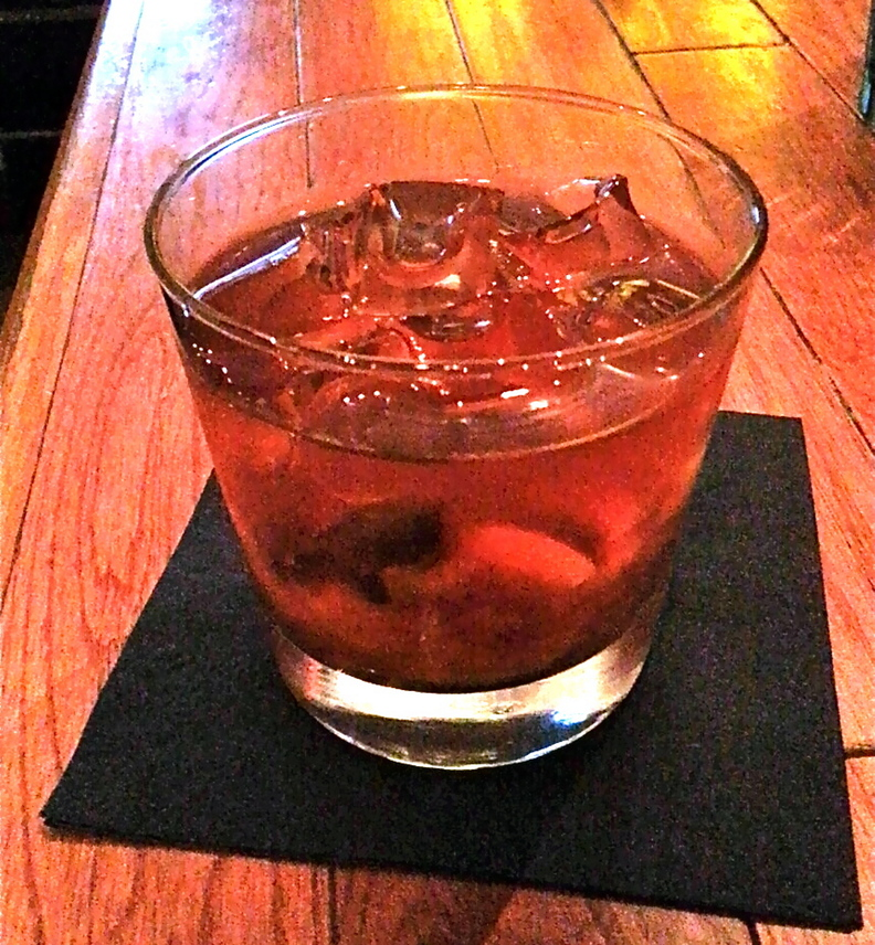 The New Fashioned features Maker's Mark bourbon, muddled orange, lemon and liquor-infused cherries, and Peychaud bitters over ice, for $8.50.