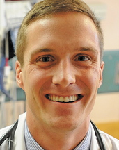 Staff photo by Michael G. Seamans Brandon Giberson, 26, was recently recognized by the American Heart Association for research on cardiac arrest. Giberson is currently a medical student at the University of New England and is completing his residency at Redington-Fairview General Hospital in Skowhegan.