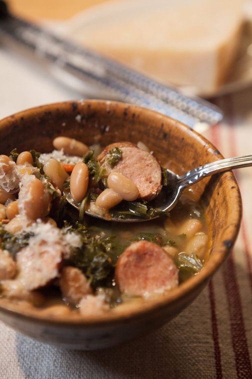 Kale and Kielbasa Soup can be put together easily with everyday ingredients from the grocery store.