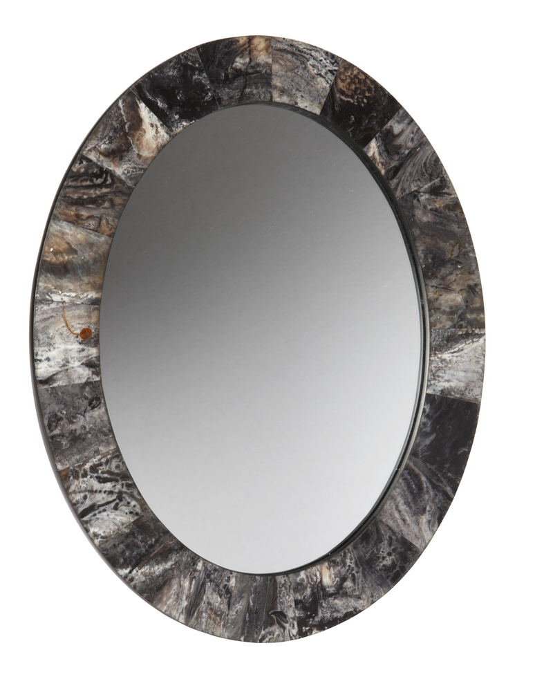 The marble border on this mirror gives it a textural, contemporary edge. It's from Target's new fall Threshold collection.