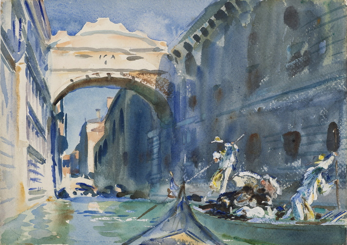 """The Bridge of Sighs"" and 91 other watercolors by John Singer Sargent are on display at the Museum of Fine Arts in Boston through Jan. 20."