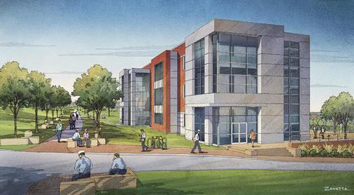 An architect's rendering of the proposed ABS Center for Engineering, Science and Research at Maine Maritime Academy. Maine voters will decide whether to help finance the building on bond Question 4 in the November 5 election.