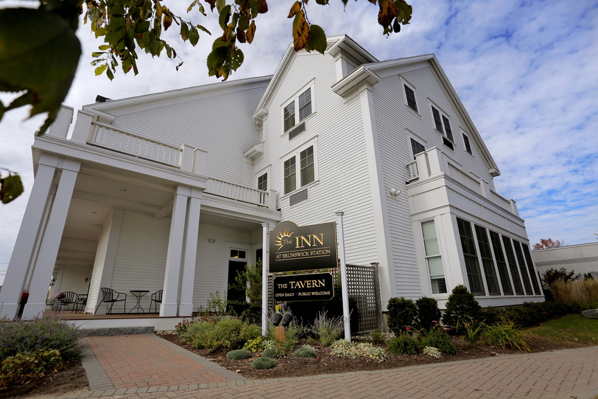 The Inn at Brunswick Station, at the intersection of Noble and Maine streets, is newly constructed with 48 guest rooms and four spacious suites.