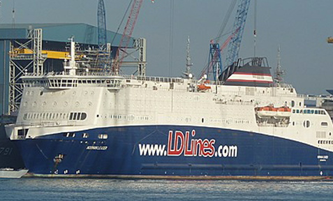 The ferry Norman Leader, renamed the Nova Star, is expected to start passenger and cargo service between Portland and Yarmouth, Nova Scotia, on May 1.