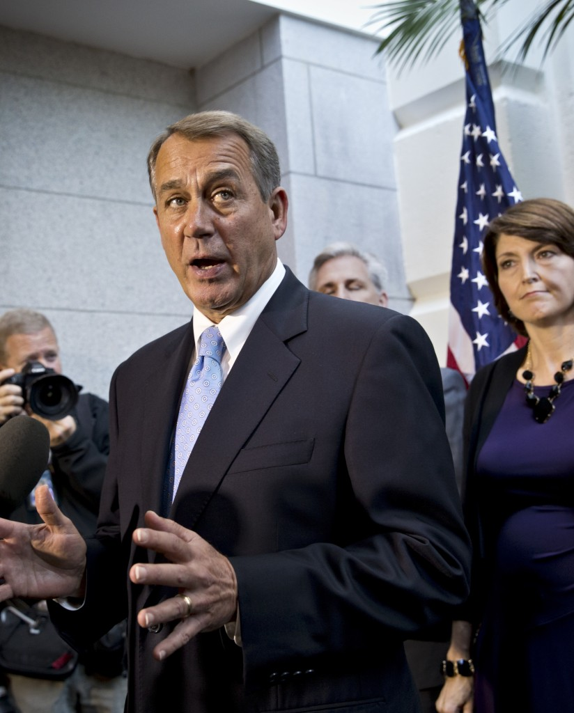 "House Speaker John Boehner, R-Ohio, speaks with reporters Tuesday in Washington. Thanks to modern technology, each House member could represent many more people ""at a fraction of the cost to taxpayers,"" a reader says."